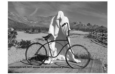 Creepy Bicycle Ghost Rider PHOTO Costume Freak Scary Halloween Art Print (Freak Halloween Costumes)