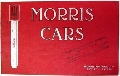MORRIS Range Original Car Sales Brochure Oct 1935 #31643-10/35/200m