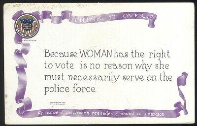 1915 WOMEN'S SUFFRAGE POST CARD