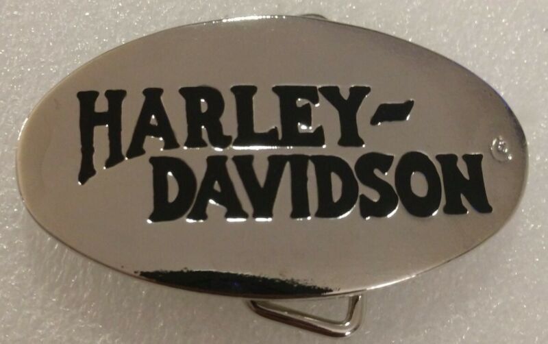 Vintage Harley Davidson Limited Edition Chrome Small Dress Belt Buckle Rare New