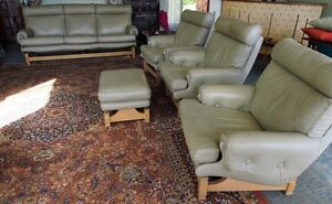 Moran Leather 3seat sofa, 2 armchairs, 1 rocker armchair, ottoman Hunters Hill Hunters Hill Area Preview