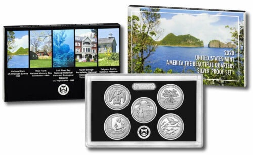 2020-S National Park Quarter SILVER Proof Set, with Box & COA (20AQ)