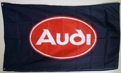 Audi Logo 3X5 Garage Wall Banner Flag A6 A8 TT Gift FREE SHIPPING