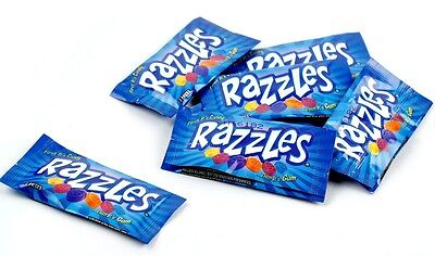 Razzles Bulk Candy 240ct - 2pc Mini Packs - Candy Then It's Gum! FREE SHIPPING
