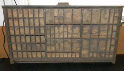 Antique Printers Type Golding Cal Case Drawer Tray Shadowbox handle  CA95 12#