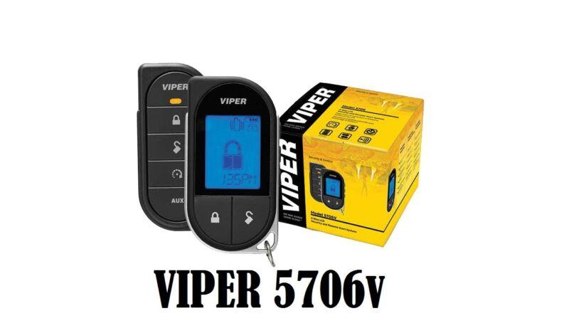Viper 5706V 2 Way LCD Remote Starter Car Alarm 5706V