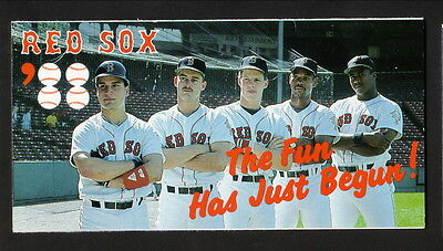 1988 Boston Red Sox Schedule  Guaranty First Bank  Greenwell Burks Benzinger