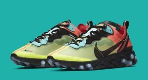 """Nike Element React 87 """"Volt"""" and """"Racer Pink"""" Aurora Size 9.5"""