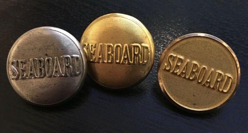 3 Seaboard railroad uniform button