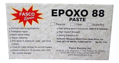 Fasco Epoxo-88 6min Set Epoxy Paste Adhesive Glue White 7oz Tube Kit