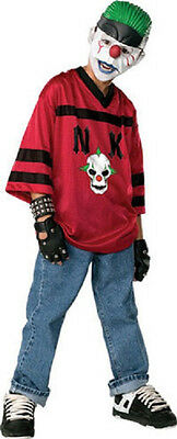 Slap Happy Klown Red Scary Evil Clown Fancy Dress Up Halloween Teen Costume