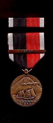 One full size US Army of Occupation medal with JAPAN Bar ribbon bar AOO
