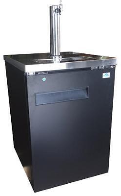 24 Direct Draw Beer Keg Kegerator 1-door Solid Black Back Bar Refrigerator Top
