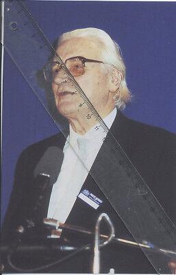 Foto Erfinder KONRAD ZUSE - Farbe Pressefoto - Aufnahme von 1987 - Computer Z3