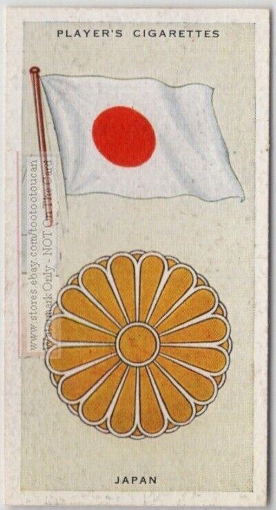 Japan Flag Banner Emblem Tokyo 1930s Ad Trade Card