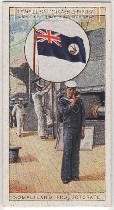British Colonial Flag Somaliland Protectorate Africa 80+ Y/O Ad Trade Card