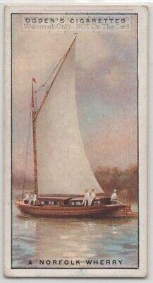 Norfolk Wherry Gaff Rig Yacht Suffolk Sail Boat 1930s Ad Trade Card