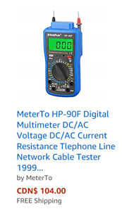 HoldPeak HP-90F Multimeter with Network Cable Tester