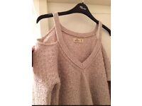 Hollister cold shoulder jumper size medium