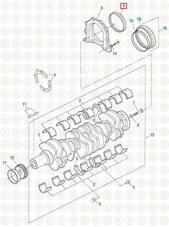 Rear Crank Seal for Mack E6 E7 E-Tech. PAI # ESE-7969 Ref
