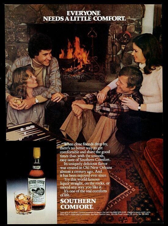 1981 Southern Comfort backgammon game set photo vintage print ad