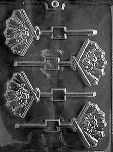 WEDDING FAN LOLLY MOLD chocolate candy molds bridal shower favors