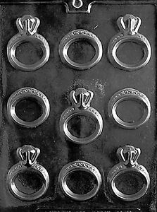 Engagement Wedding Ring Pieces Chocolate Candy Mold Diamonds Marriage Rings