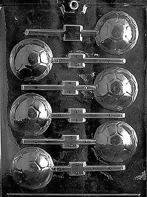 SOCCER BALL LOLLY POP mold Chocolate Candy plaster candy molds mls fall balls - Chocolate Candy Balls