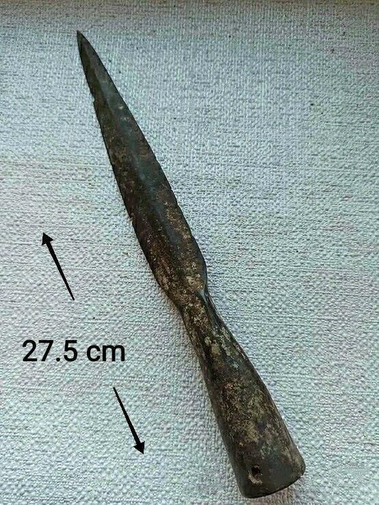 Spear * Ancient Rare Spearhead Original Scythians Vikings Artifact - 27.5 cm