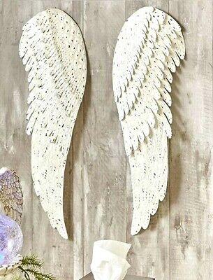 Angel Wings Wall (2 PC Metal Angel Wings Wall Art Distressed Vintage Rustic Hang Home Decor)