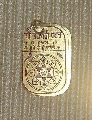 Saraswati Yantra Frequency Resonance Divine Energy Pendant