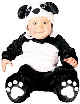 Baby Mädchen Jungen schwarz weiß Pandabär Chinesisch Tier Kostüm Kleid Outfit