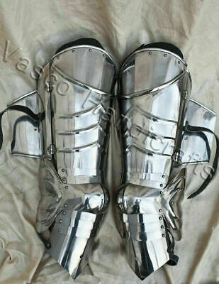 Knight Leg Armor (Medieval leg Knight SCA combat leg armor plate legs cuisses Armor Leg 18g)