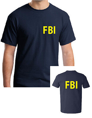 FBI NAVY T-SHIRT - FANCY DRESS POLICE COSTUME MANY SIZES FOR MEN,WOMEN AND - Navy Fancy Dress For Womens