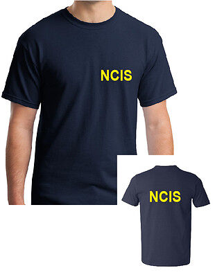 NCIS NAVY T-SHIRT - FANCY DRESS POLICE COSTUME MANY SIZES FOR MEN,WOMEN AND - Navy Fancy Dress For Womens