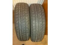 2 x car tyres 175/65/R15 84T