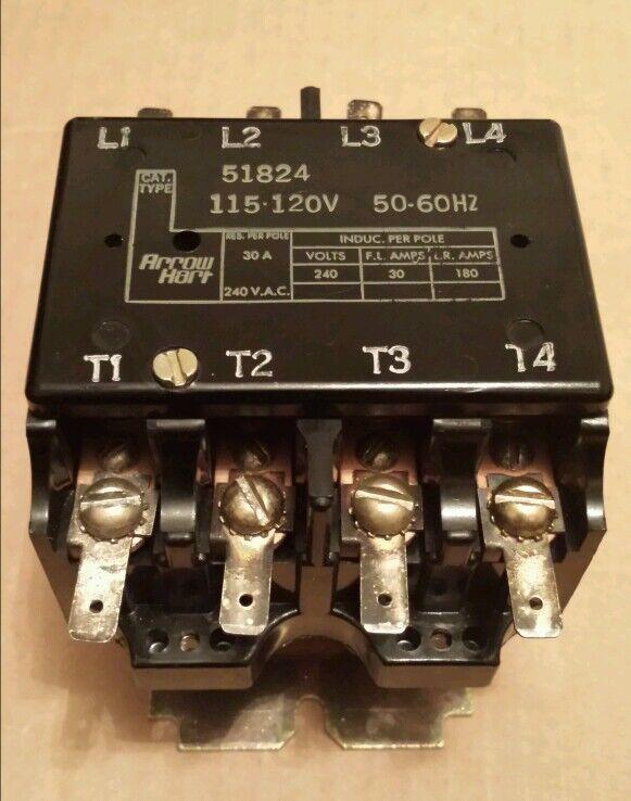 ARROW HART 51824 CONTACTOR 115-120V 50/60Hz  30A