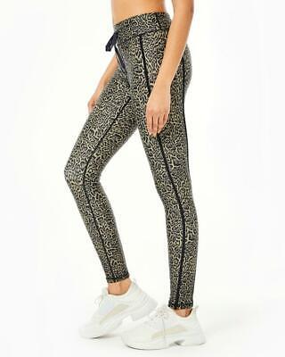 The Upside NWT $110 Leopard Print Yoga Pants Athleisure Drawstring Size XS/4