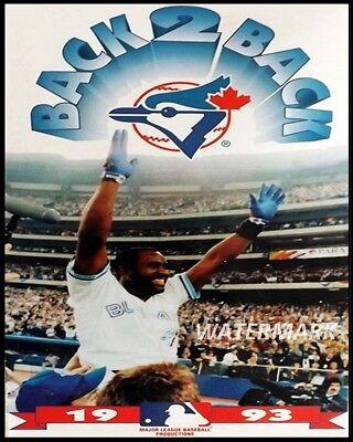 1993 Joe Carter Toronto Blue Jays World Series Back To Back Color 8 X 10 (Toronto Blue Jays Back To Back World Series)