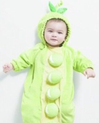 Nwt Plush Infant Peapod Costume One Piece Bunting With Hood Size 0 6 Months