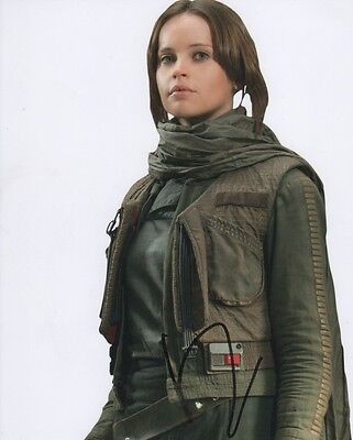 Felicity Jones Rogue One Autographed Signed 8X10 Photo Coa  C1