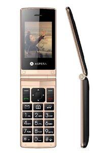 Aspera F24 Seniors Big Button Easy To Use Flip Phone-BIG Numbers + Big Screen !