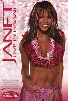 Janet Jackson: Live in Hawaii Original Video Release Poster 27 x 40 NEW 2002