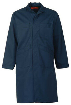 - NAVY BLUE SHOP COAT (up to size 66 in regular and tall length-NO EXTRA CHARGE)