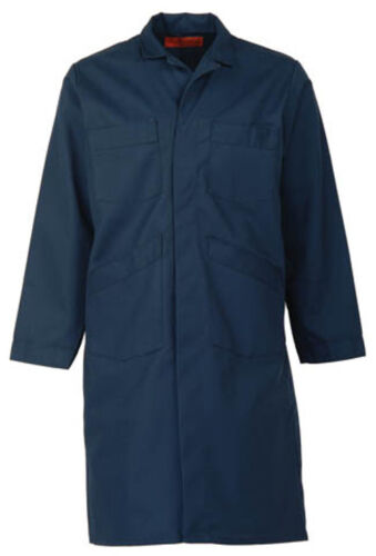 NAVY BLUE SHOP COAT (up to size 62 in regular and tall length-NO EXTRA CHARGE)