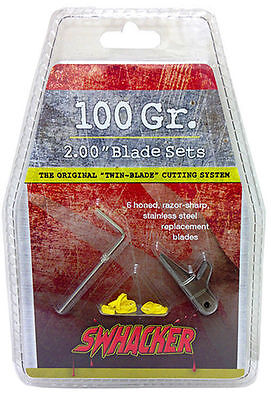 """Swhacker 100 Grain 2"""" Replacement Blades 6 Pack"""