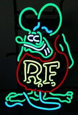 "New Rat Fink RF Real glass Neon Sign Wall Decor Pub Gift 20""x16"" Light Lamp"