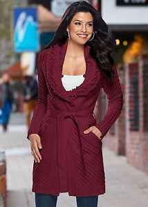 Beautiful BNWT Wine coloured Sweater Coat size XL