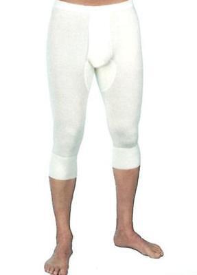 Angora Herren Unterhose 3/4lang 45% Wolle  20% Angora mit Eingriff