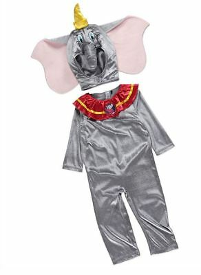 NEW Boys Girls Baby Disney Dumbo Fancy Dress Costume Age 1 - 4 - Baby Dumbo Kostüm